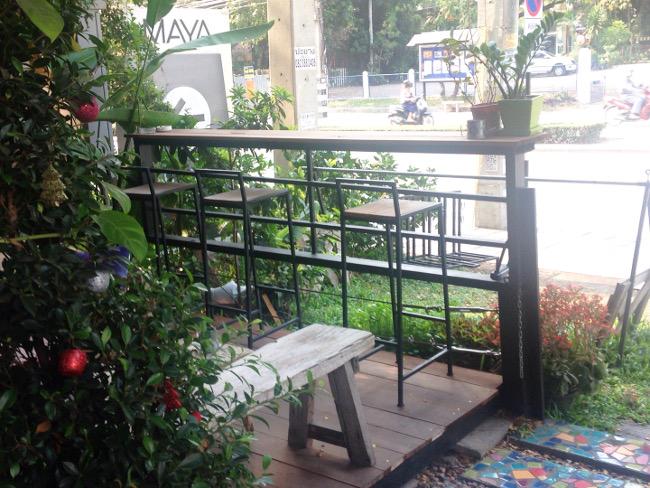 tigertedcafeのテラス席(一階)