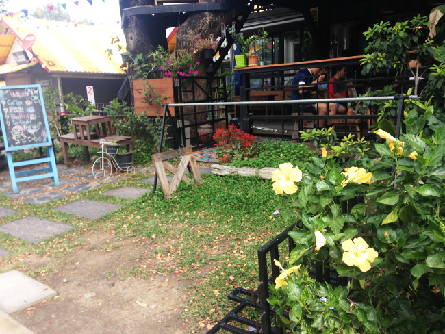 tigertedcafeの外観(お花きれい)