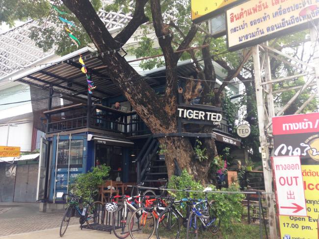 tigertedcafeの外観(引き)